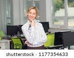 smiling business woman.... | Shutterstock . vector #1177354633