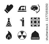 warm icon. 9 warm vector icons...   Shutterstock .eps vector #1177355050