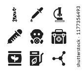 chemical icon. 9 chemical... | Shutterstock .eps vector #1177356493