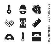 measurement icon. 9 measurement ...   Shutterstock .eps vector #1177357906