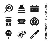 cook icon. 9 cook vector icons... | Shutterstock .eps vector #1177359583