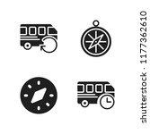 voyage icon. 4 voyage vector... | Shutterstock .eps vector #1177362610