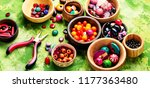 variety of shapes and colors... | Shutterstock . vector #1177363480