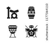 beat icon. 4 beat vector icons... | Shutterstock .eps vector #1177364110