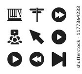 forward icon. 9 forward vector... | Shutterstock .eps vector #1177364233