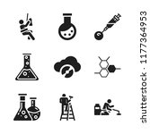 chemical icon. 9 chemical... | Shutterstock .eps vector #1177364953