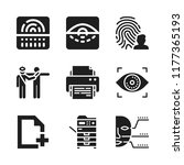 scan icon. 9 scan vector icons... | Shutterstock .eps vector #1177365193