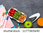 lunch box for school  rice... | Shutterstock . vector #1177365640