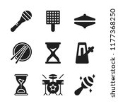beat icon. 9 beat vector icons... | Shutterstock .eps vector #1177368250