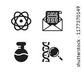 research icon. 4 research... | Shutterstock .eps vector #1177370149