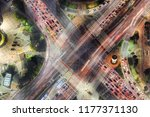 high angle view of road... | Shutterstock . vector #1177371130