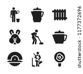 domestic icon. 9 domestic... | Shutterstock .eps vector #1177372696
