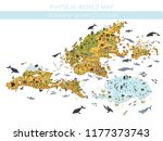 isometric world flora and fauna ... | Shutterstock .eps vector #1177373743