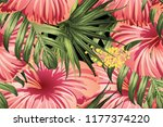 green red exotic pattern.... | Shutterstock .eps vector #1177374220