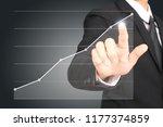 businessman plan graph growth... | Shutterstock . vector #1177374859