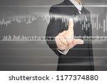 businessman plan graph growth... | Shutterstock . vector #1177374880