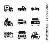 highway icon. 9 highway vector... | Shutterstock .eps vector #1177376500