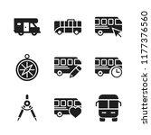 voyage icon. 9 voyage vector... | Shutterstock .eps vector #1177376560