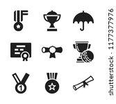 award icon. 9 award vector...   Shutterstock .eps vector #1177377976