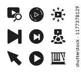 forward icon. 9 forward vector... | Shutterstock .eps vector #1177378129
