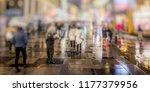 crowd of people walking on...   Shutterstock . vector #1177379956