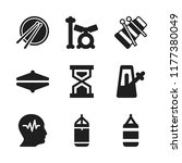 beat icon. 9 beat vector icons... | Shutterstock .eps vector #1177380049