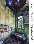 grungy interior of abandoned... | Shutterstock . vector #1177382746