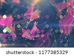 abstract pink illustration.... | Shutterstock . vector #1177385329