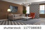 interior of the living room. 3d ... | Shutterstock . vector #1177388083