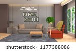 interior of the living room. 3d ... | Shutterstock . vector #1177388086