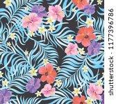 tropical vector seamless... | Shutterstock .eps vector #1177396786
