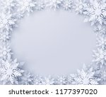vector merry christmas and... | Shutterstock .eps vector #1177397020