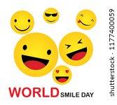 world smile day. smile icon... | Shutterstock .eps vector #1177400059