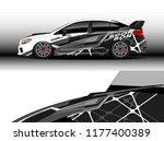car wrap graphic vector....   Shutterstock .eps vector #1177400389