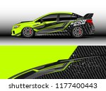 car wrap graphic vector.... | Shutterstock .eps vector #1177400443
