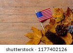 Little Flag Of Usa With Maple...