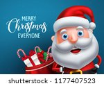 santa claus vector character... | Shutterstock .eps vector #1177407523