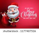 santa claus vector character... | Shutterstock .eps vector #1177407526