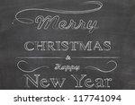 merry chrismas on blackboard | Shutterstock . vector #117741094