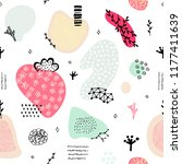vector seamless pattern with... | Shutterstock .eps vector #1177411639