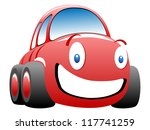 funny race car illustration | Shutterstock . vector #117741259