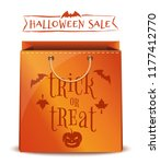 orange package with inscription ... | Shutterstock .eps vector #1177412770