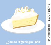 the graphic of a lemon meringue ... | Shutterstock .eps vector #1177418743