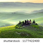 a beautiful panorama in the... | Shutterstock . vector #1177422400
