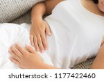 young woman having painful... | Shutterstock . vector #1177422460