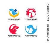 pet shop logo design template... | Shutterstock .eps vector #1177425850
