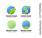 green earth logo design... | Shutterstock .eps vector #1177425856