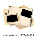old book and photos. objects... | Shutterstock . vector #1177426159