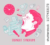 mental health. burnout syndrome.... | Shutterstock .eps vector #1177433173