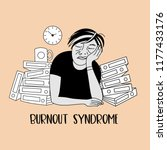 mental health. burnout syndrome.... | Shutterstock .eps vector #1177433176